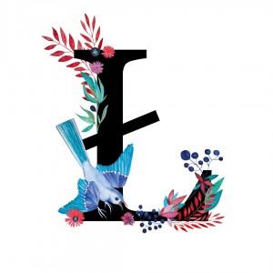 Alfabet litera Ł 50x70