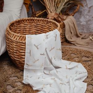 Otulacz muślinowy biały