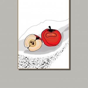 Czerwone jabłka- grafika do kuchni lub jadalni