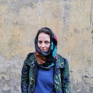komin patchworkowy boho handmade kolorowy ciepły