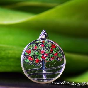 Naszyjnik z motywem drzewa z kwiatami Marchwi