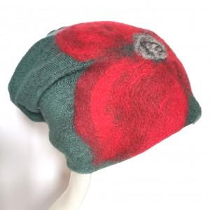 czapka welniana na podszewce wyprzedaż