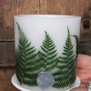 Lampion TAJEMNICZY LAS z ceramiczną podstawką