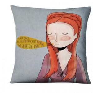 poszewka na poduszkę z wizerunkiem kobiety