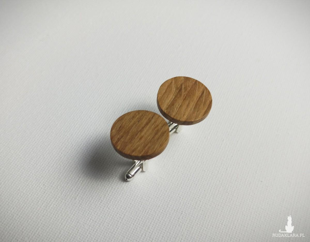 Spinki do maniektów drewniane