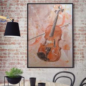 Skrzypce, obraz malowany na płótnie