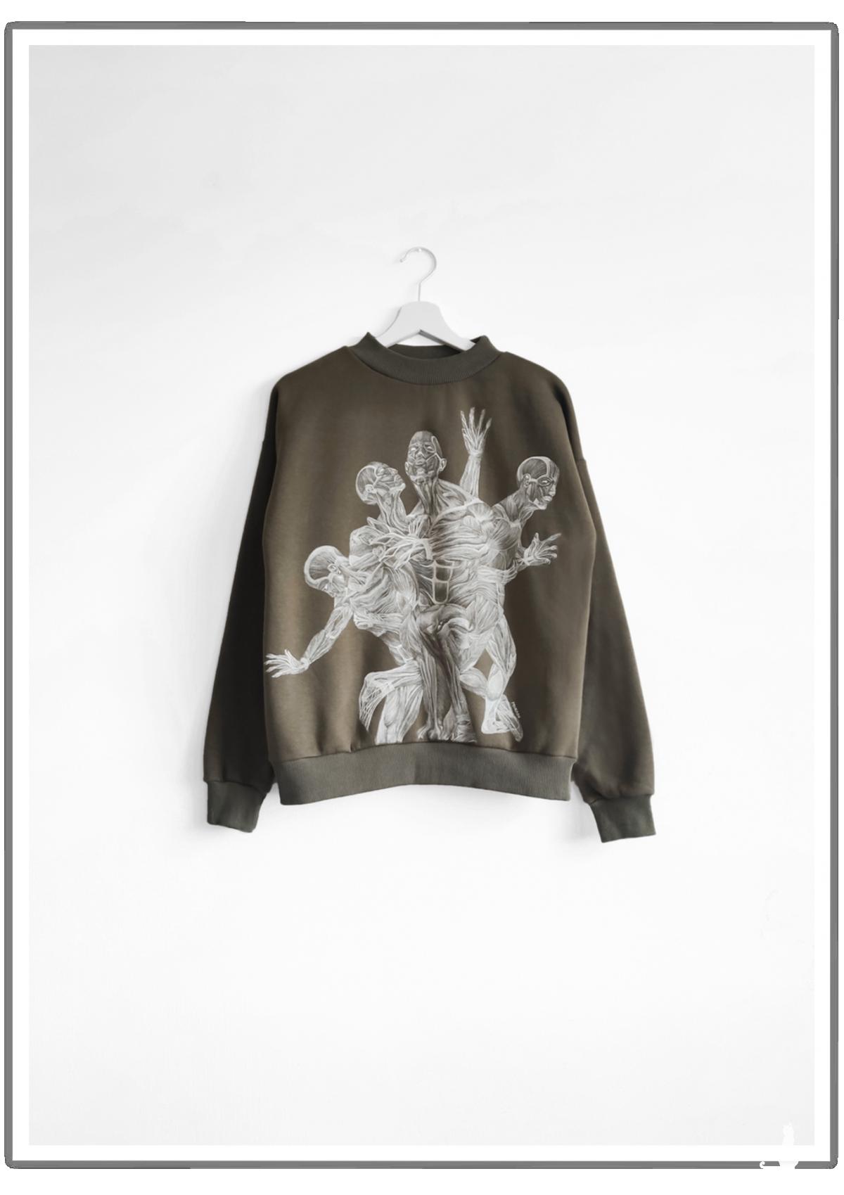 Ręcznie malowana bluza Melting Expectations
