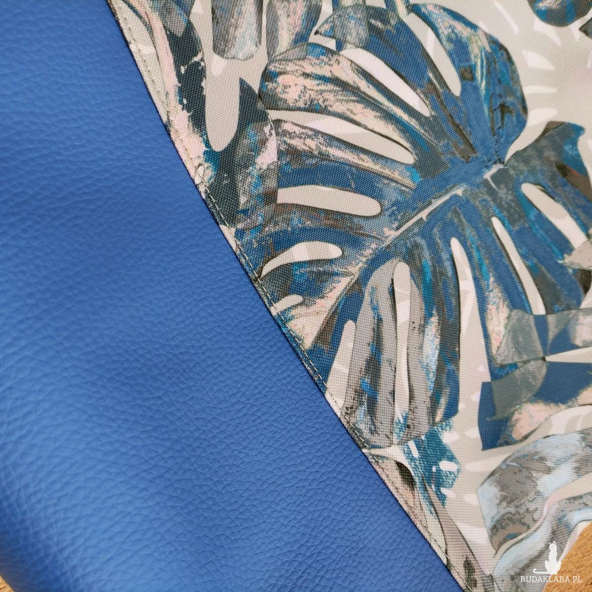 Torebka na ramię Liść Monstery Blue