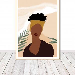 """Grafika """"Afrykańska kobieta"""" sygnowana"""