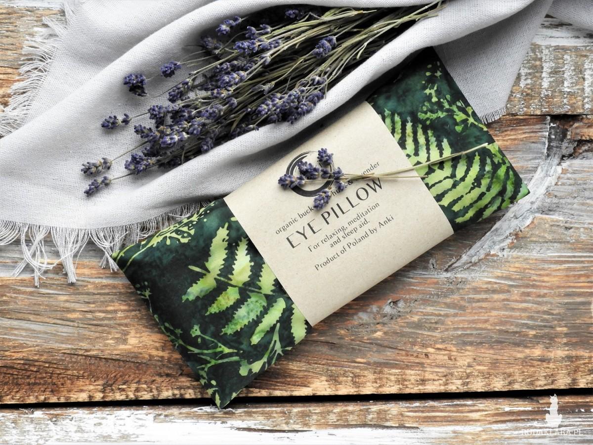 Aromaterapeutyczna poduszka na oczy - zielona