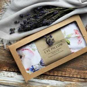 Aromaterapeutyczna poduszka na oczy - w kwiaty