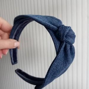 Jeansowa opaska na włosy