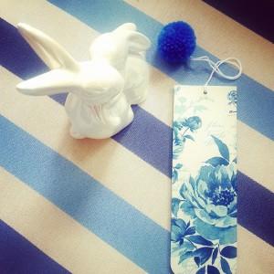 Zakładka do książki Blue flowers