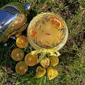 Ręcznie robiona świeca trawa cytrynowa