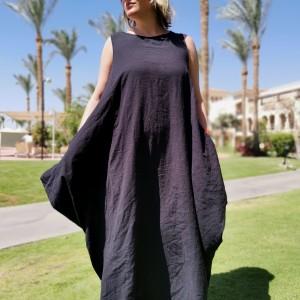 sukienka czarna oversize długa S