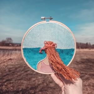 Tamborek dekoracyjny Marzycielka Morska