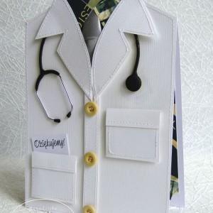 Kartka Fartuch Lekarski, podziękowanie dla lekarza