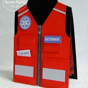 Kartka Kamizelka Ratownika Medycznego, podziękowanie dla lekarza, ratownika