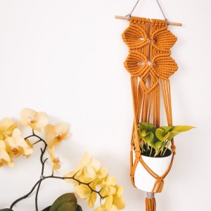 Kwietnik makrama - Ścienny wiszący Orchid