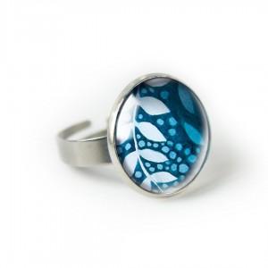 Delikatne listki pierścionek