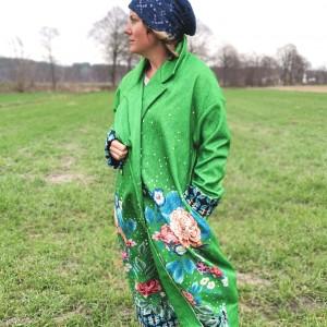 płaszcz kolorowy energetyczny damski L