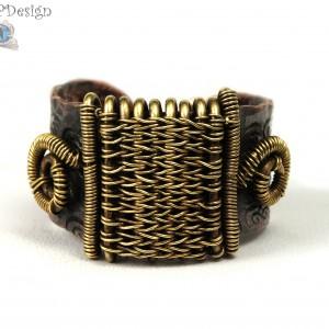 Miedziany oksydowany pierścionek, sygnet, ręcznie wykonany, prezent dla niej prezent dla niego, prezent biżuteria autorska, unisex