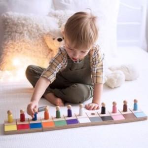 kolorowe ludziki  mały zestaw