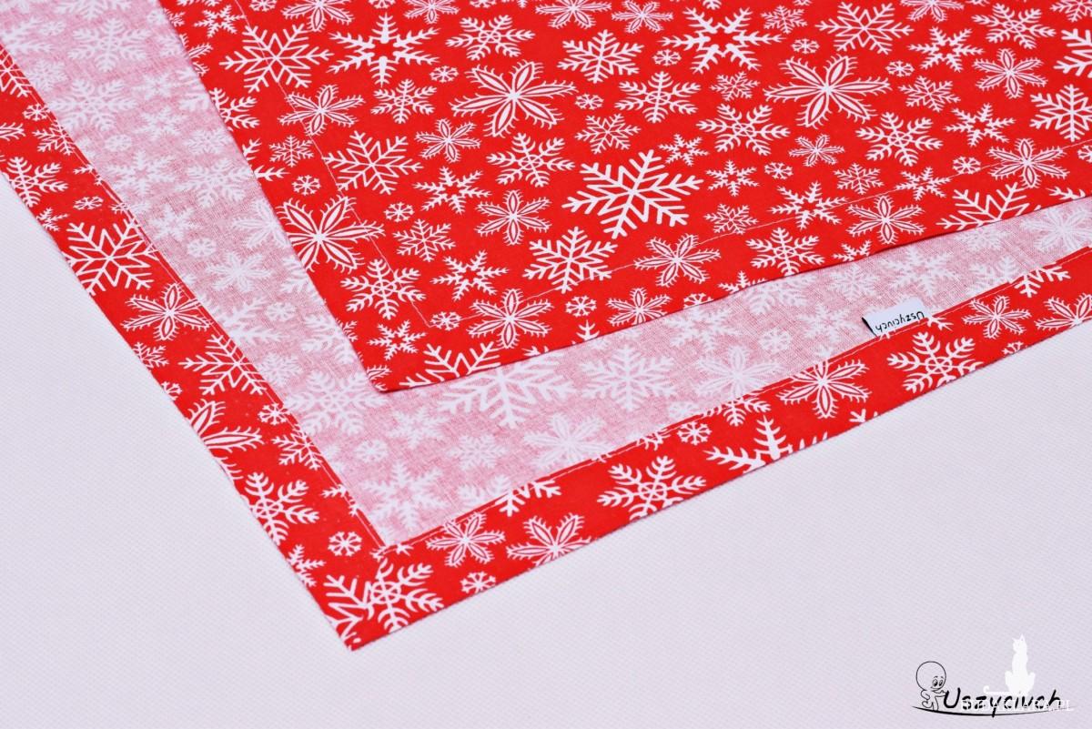 Bieżnik świąteczny czerwone śnieżki