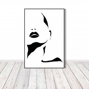 Kobieta - grafika czarno-biała