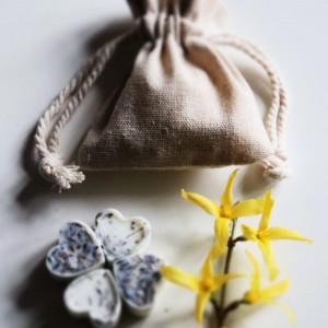 Pachnący lniany woreczek z woskami sojowymi