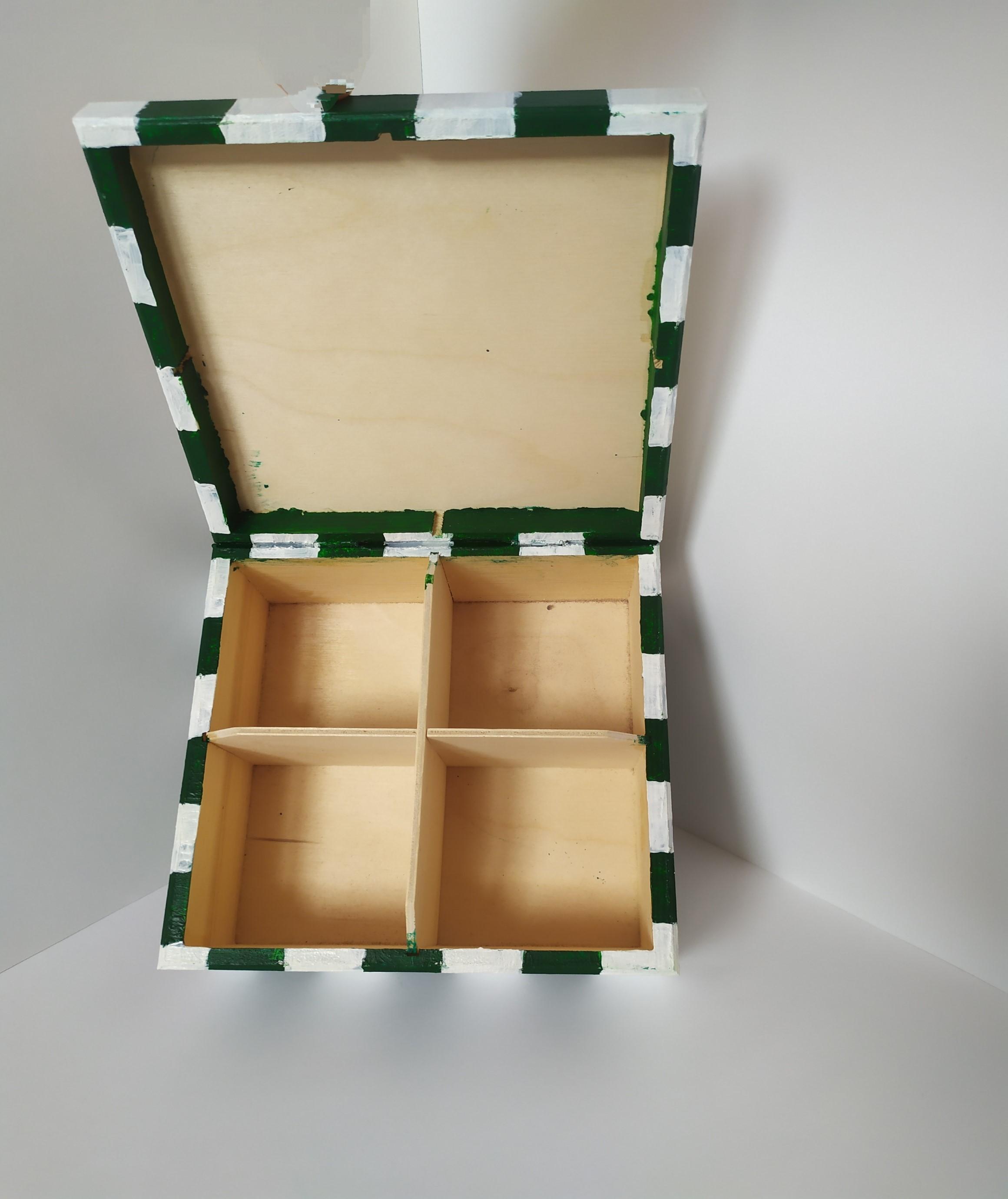 Herbaciarka zielona decoupage
