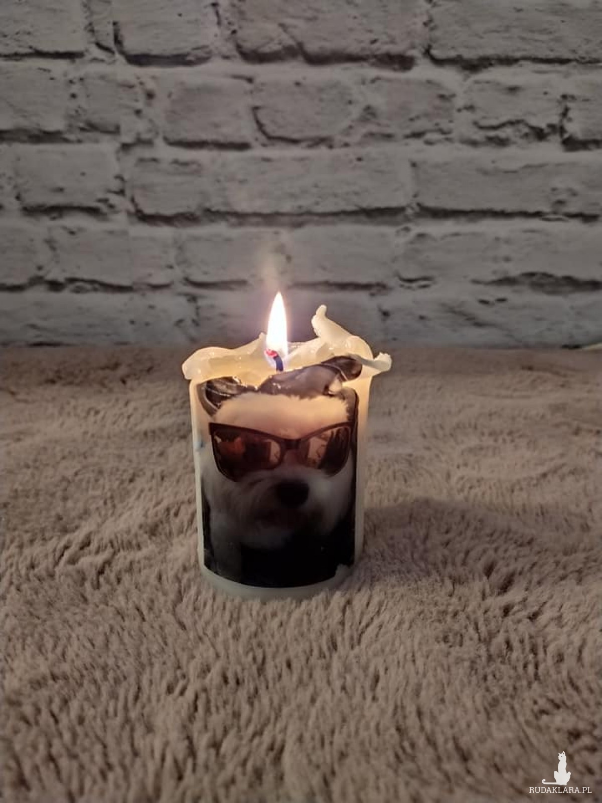 Świeczka z własnym zdjęciem