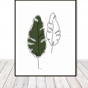 Grafika autorska - liście bananowca