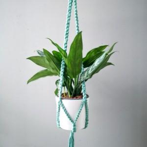 Kwietnik makrama - wiszący Chain Green
