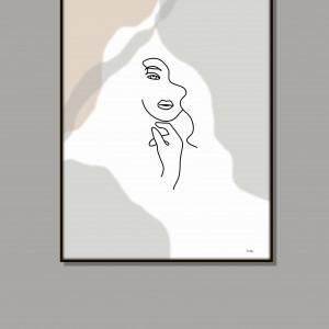 """Grafika """"Kobieta"""" minimalistyczna"""