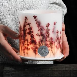 Wrzosowisko lampion z ceramiczną podstawką