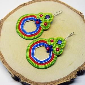 Calipso -  kolorowe kolczyki sutasz