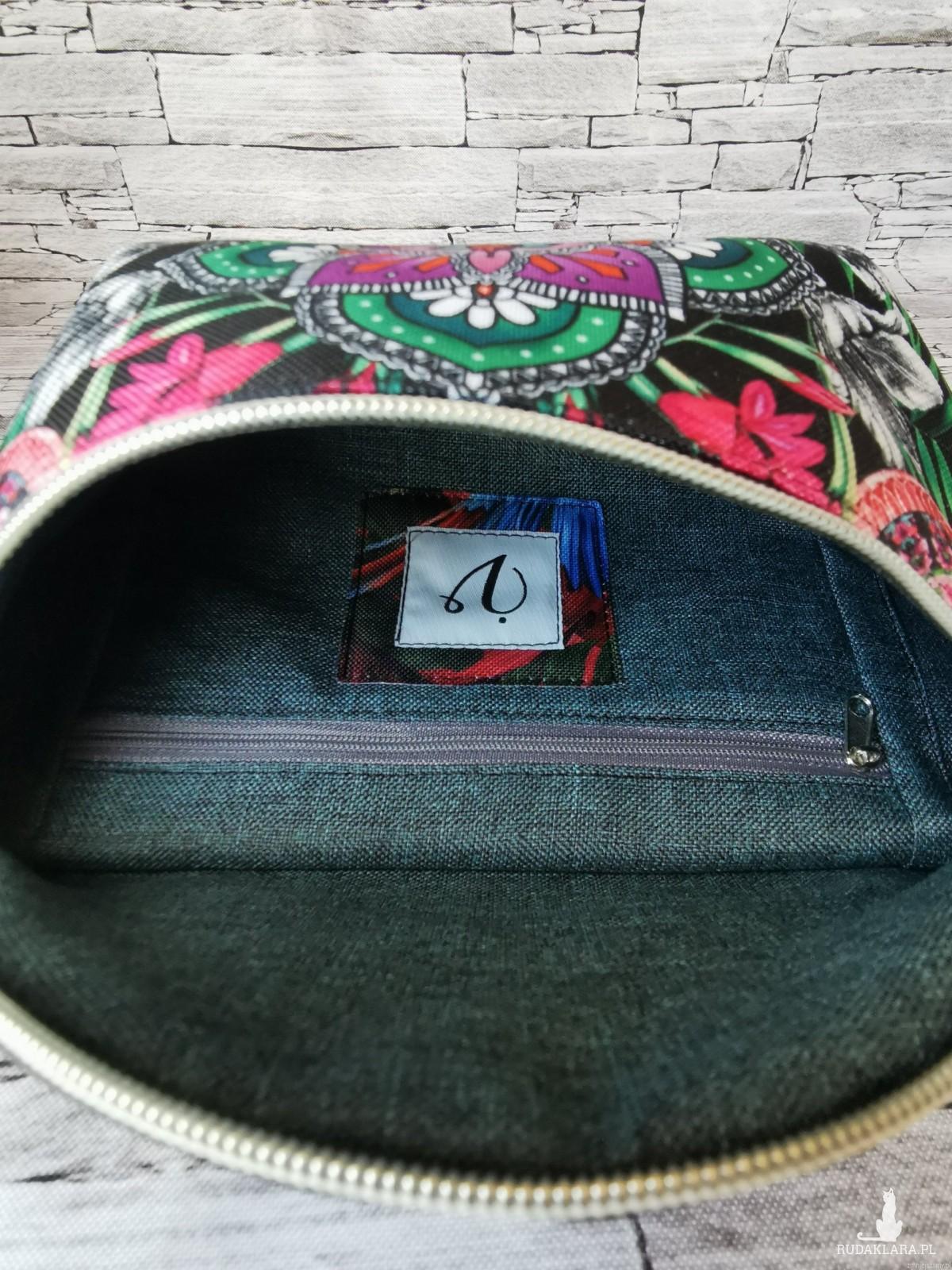 Nerka saszetka biodrowa wodoodporna handmade torebka na pas ekoskóra boho różowe rozmiar L