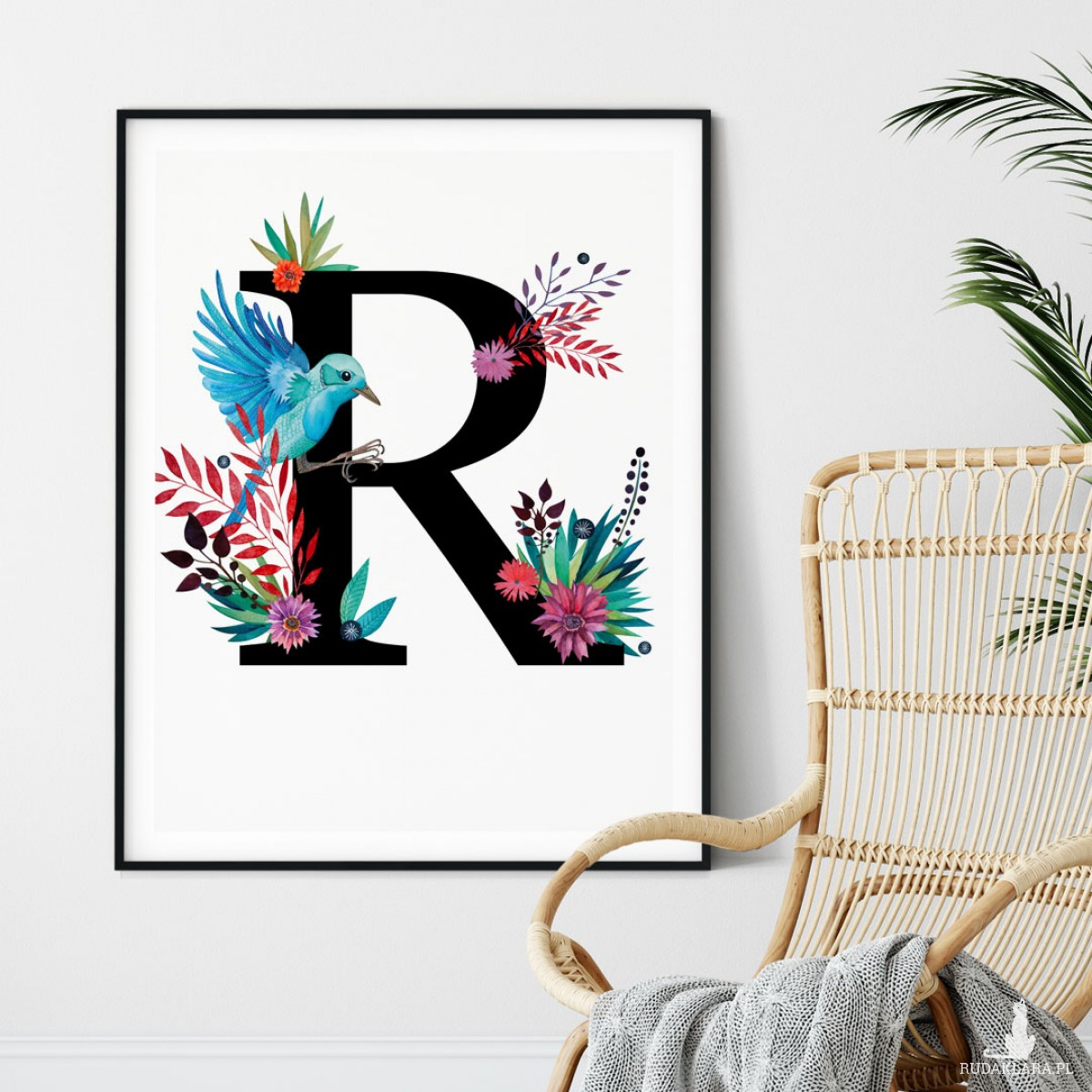 Alfabet litera R 50x70