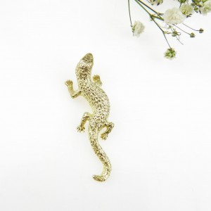 Salamandra złota - zawieszka srebrna