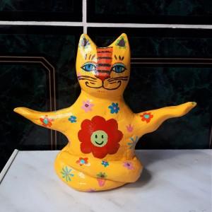 "Yoga Cat ""Hippie"""