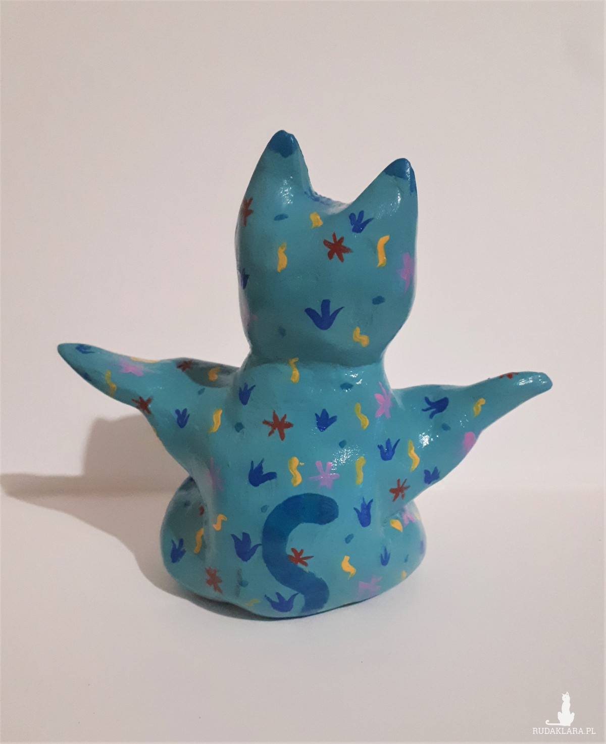 "Yoga Cat ""Turquoise flowerbed"""