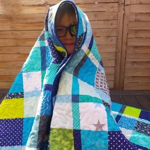 Chłopięca narzuta Oryginalny patchwork quilt
