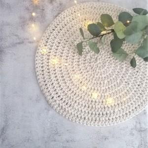 Podkładka na stół,średnica 40cm,pod talerz z sznurka.