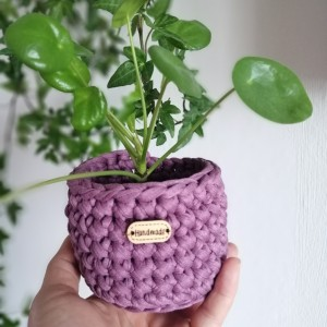 Koszyki dekoracyjne,osłonka donicy,3szt,fioletowy