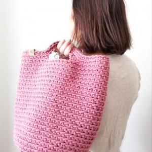 Duża torba na zakupy, Torebka szydełkowa.