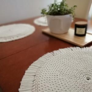 Podkładka na stół ,średnica 30cm, boho,okrągła podkładka.