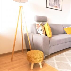 Pokrowiec na stołek,40cm,taboret,SCANDI.żółty.