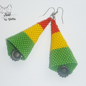 Tinkerbell - kolczyki rasta reggae