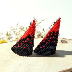 Tinkerbell - kolczyki z koralików Halloween